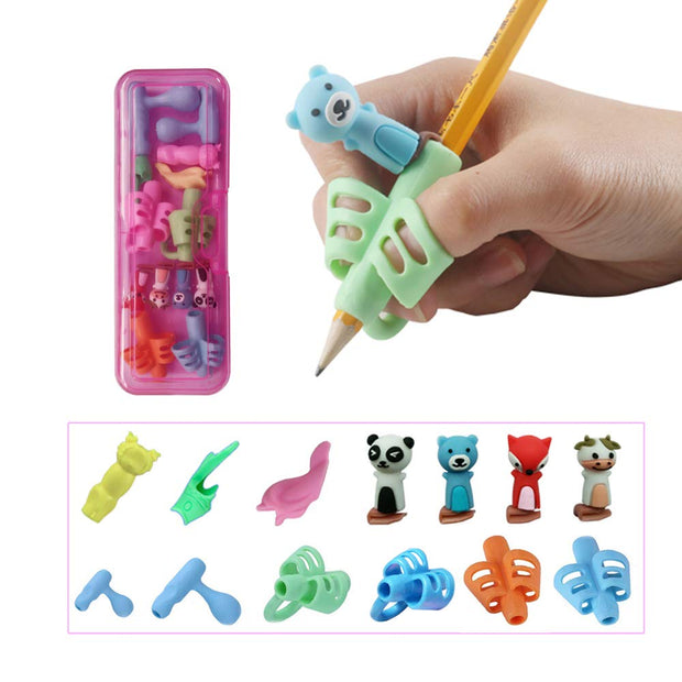 6 Stage Posture Correction Pencil Grip Set - Preschool Writing Tool - Nexusbaby