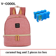 V-COOOL Insulated Baby Bottle Bag Maternity Breastfeeding Feeding Milk Fresh Keeping Storage Nursing Diaper Bags Thermal Backpack DCO Breastfeeding - Nexusbaby