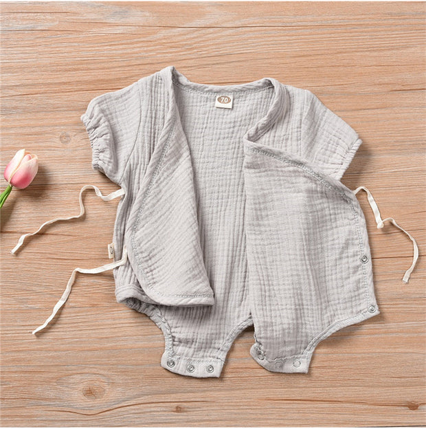 Summer Short-Sleeved Plain Romper for Girls and Boys Aged 0-18 months - Nexusbaby