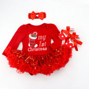 My First Christmas Set - Baby Girl Outfit - Nexusbaby