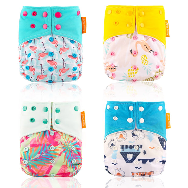 Reusable Cloth Diaper Suede with Cloth Inner Baby Nappy and Waterproof Diaper with Dual Gussets - Nexusbaby