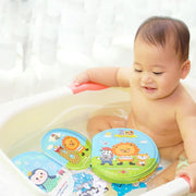 Waterproof Kid Early Learning Cloth Books with BB Device Baby Baby Bath Toys Erly Educational Toy Zoo Marine Number Cloth Book - Nexusbaby