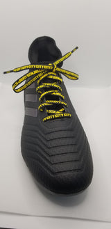 "29"" Pair of Ellicott City Soccer Club GripStrings Black and Yellow"
