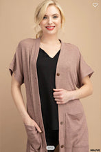 Load image into Gallery viewer, Ribbed Cardi Mauve