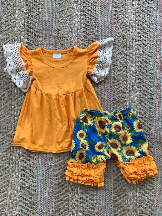 Girls Yellow Sunflower Set