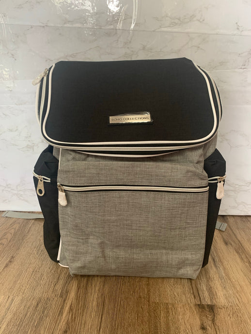 Black and Grey SoHo Diaper Bag