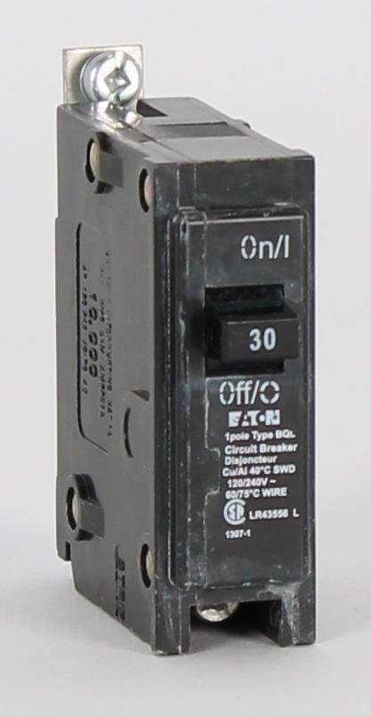 BQL30 - Culter-Hammer Bolt-On 30 Amp Single Pole Circuit Breaker