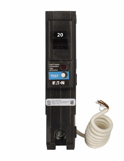BRLAFGF120 - Eaton Cutler-Hammer 20 Amp Single Pole Dual Function Circuit Breaker