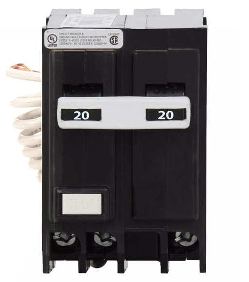 GFTCB220 - Eaton Cutler-Hammer 20 Amp Double Pole Ground Fault Circuit Breaker