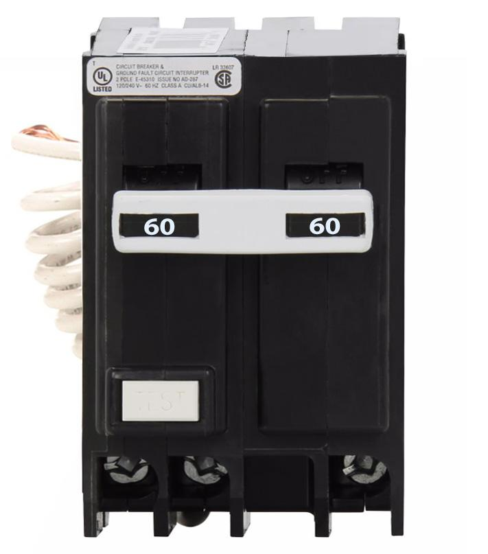 GFTCB260 - Eaton Cutler-Hammer 60 Amp Double Pole Ground Fault Circuit Breaker