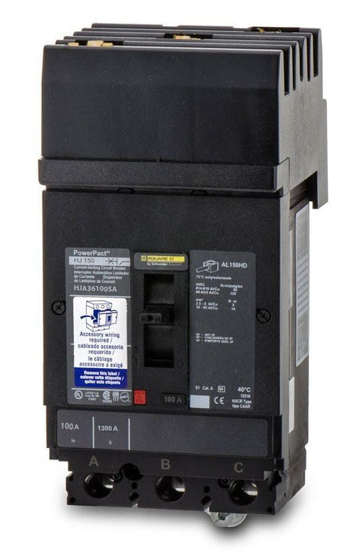HJA36100SA - Square D 100 Amp 3 Pole 600 Volt Plug-In Molded Case Circuit Breaker