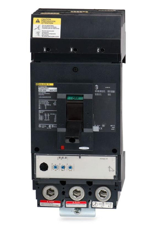 LDL36600U33X - Square D 600 Amp 3 Pole 600 Volt Molded Case Circuit Breaker