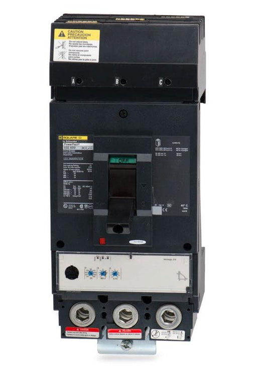 LGL36600U33X - Square D 600 Amp 3 Pole 600 Volt Molded Case Circuit Breaker