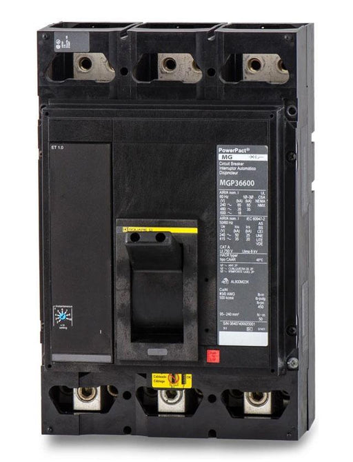 MGP36600 - Square D 600 Amp 3 Pole 600 Volt Molded Case Circuit Breaker