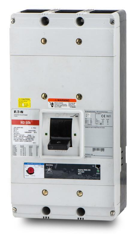 ND312T35W - Eaton Cutler Hammer 1200 Amp 3 Pole 600 Volt Bolt-On Molded Case Circuit Breaker