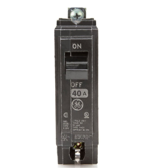 THQB1140 - GE 40 Amp Single Pole Bolt-On Circuit Breaker
