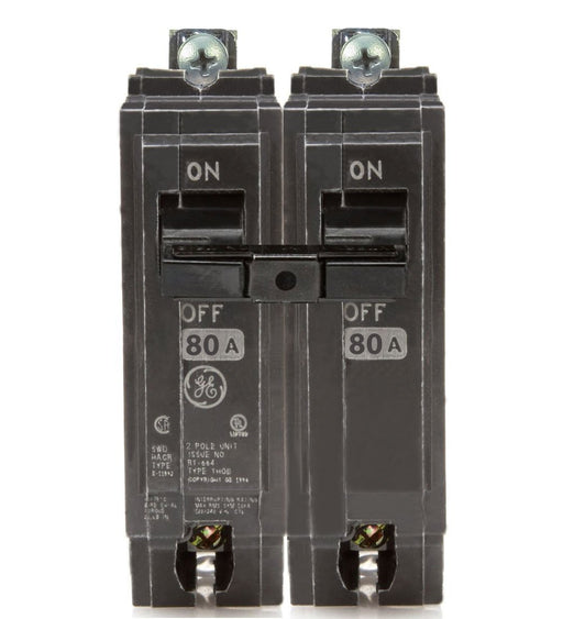 THQB2180 - GE 80 Amp Double Pole Bolt-On Circuit Breaker