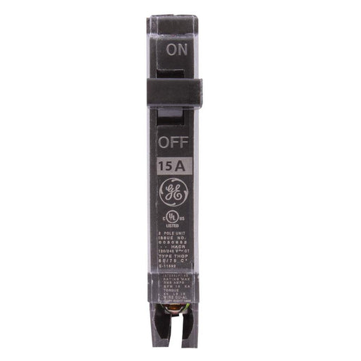 "THQP115 - GE 15 Amp Single Pole 1/2"" Circuit Breaker"