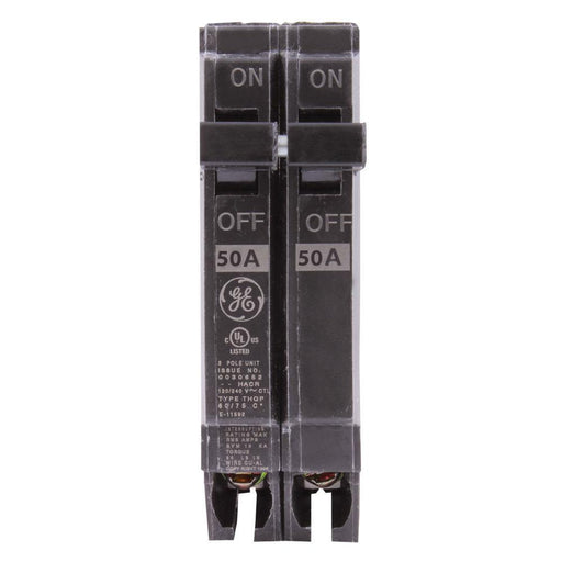 "THQP250 - GE 50 Amp Double Pole 1/2"" Circuit Breaker"