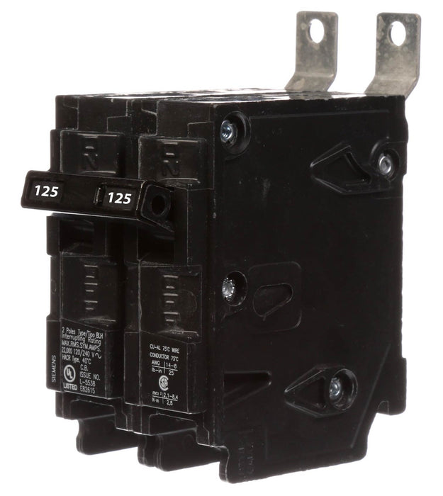 B2125H - Siemens 125 Amp 2 Pole 240 Volt Molded Case Circuit Breaker