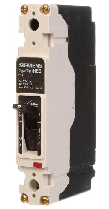 HEB1B020B - Siemens 20 Amp 1 Pole 277 Volt Bolt-On Molded Case Circuit Breaker