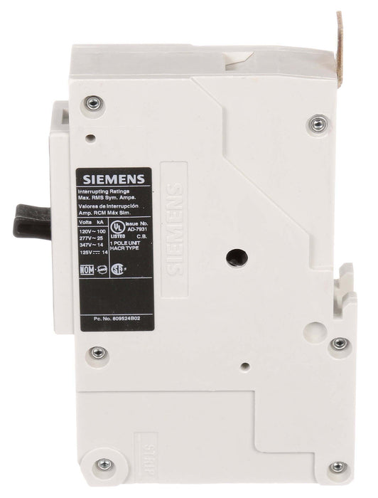 NGB1B020B - Siemens 20 Amp 1 Pole 347 Volt Bolt-On Molded Case Circuit Breaker