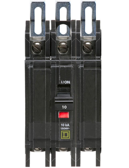 QOU310 - Square D 10 Amp 3 Pole 240 Volt Miniature Circuit Breaker
