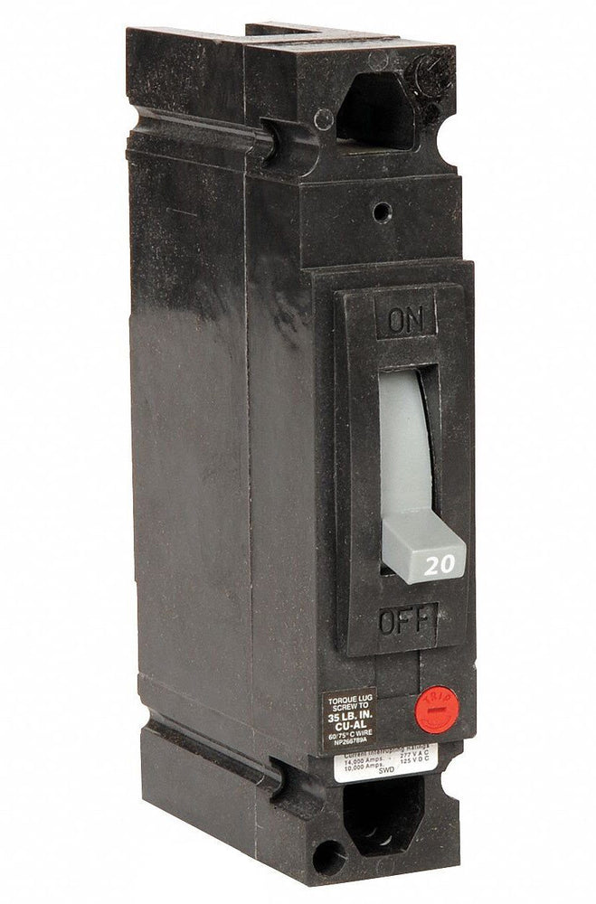 THED113020WL - GE 20 Amp 1 Pole 277 Volt Molded Case Circuit Breaker