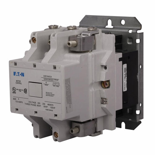 A201K4CA - Eaton Cutler-Hammer 135 Amp 3 Pole 120 Volt Non-Reversing Magnetic Contactor
