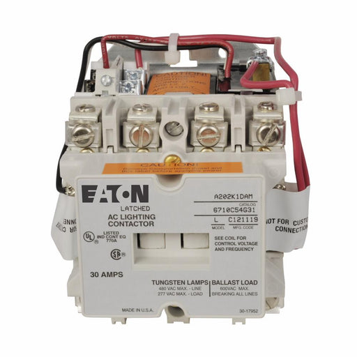 A202K1CZM - Eaton Cutler-Hammer 30 Amp 4 Pole 277 Volt Non-Reversing Magnetic Contactor