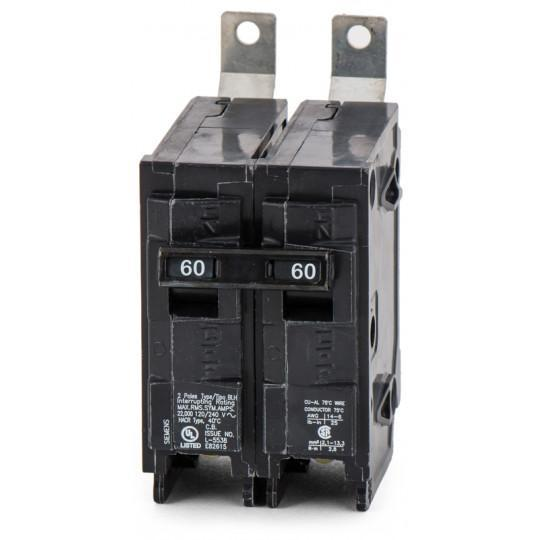 B260H - Siemens 60 Amp 2 Pole 240 Volt Molded Case Circuit Breaker
