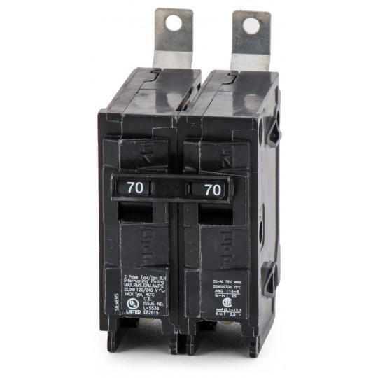 B270H - Siemens 70 Amp 2 Pole 240 Volt Molded Case Circuit Breaker