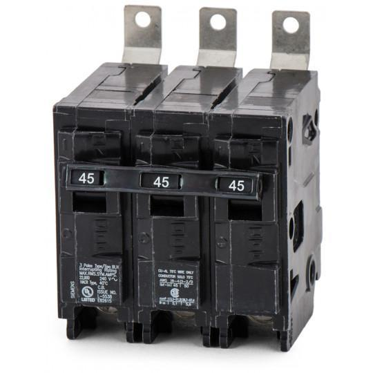 B345H - Siemens 45 Amp 3 Pole 240 Volt Molded Case Circuit Breaker