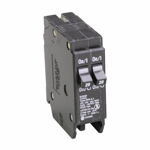 BD2020 - Eaton Cutler-Hammer 20 Amp 2 Pole 120 Volt Plug-On Circuit Breaker