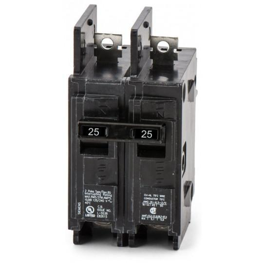 BQ2B025H - Siemens 25 Amp 2 Pole 240 Volt Bolt-On Molded Case Circuit Breaker