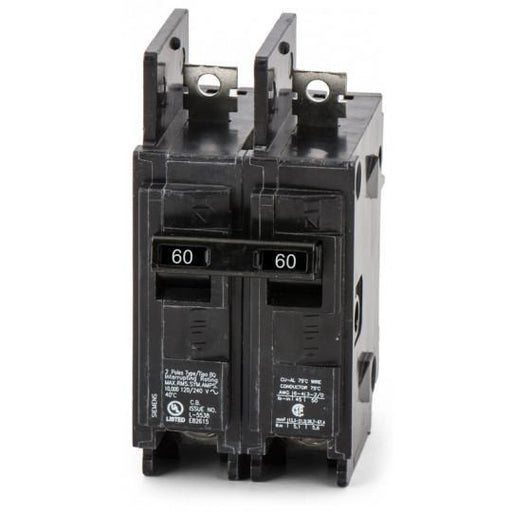 BQ2B060H - Siemens 60 Amp 2 Pole 240 Volt Bolt-On Molded Case Circuit Breaker