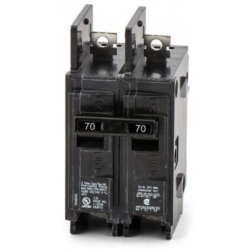 BQ2B070H - Siemens 70 Amp 2 Pole 240 Volt Bolt-On Molded Case Circuit Breaker