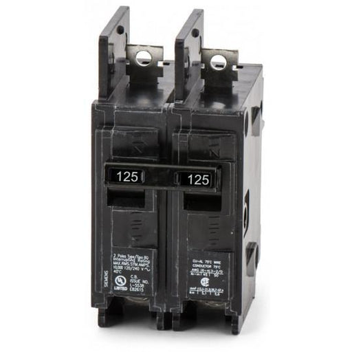 BQ2B125H - Siemens 125 Amp 2 Pole 240 Volt Bolt-On Molded Case Circuit Breaker