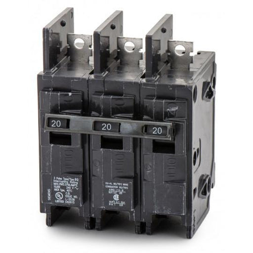 BQ3B020H - Siemens 20 Amp 3 Pole 240 Volt Bolt-On Molded Case Circuit Breaker