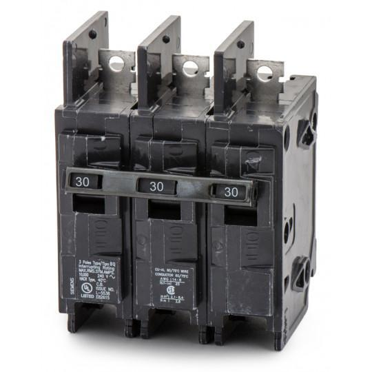 BQ3B030H - Siemens 30 Amp 3 Pole 240 Volt Bolt-On Molded Case Circuit Breaker