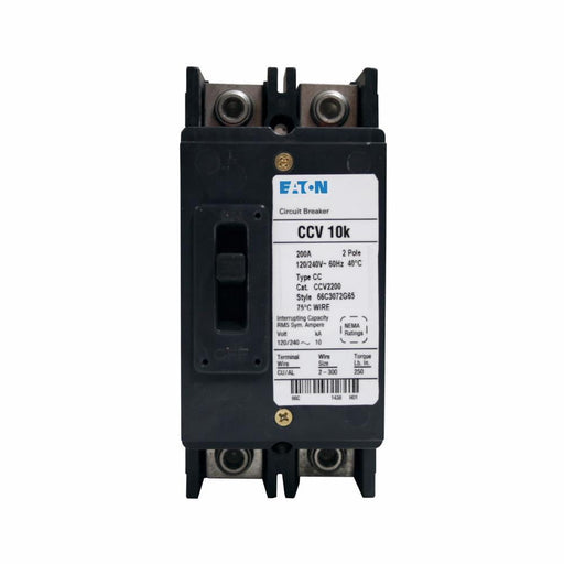 CCV2225 - Eaton Cutler-Hammer 225 Amp 2 Pole 240 Volt Terminal Molded Case Circuit Breakers