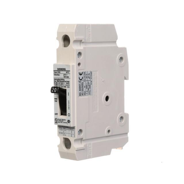 CQD120 - Siemens 20 Amp 1 Pole 277 Volt Molded Case Circuit Breaker