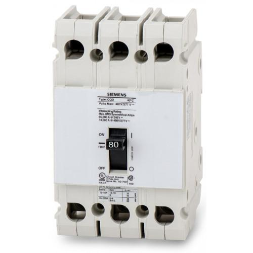 CQD380 - Siemens 80 Amp 3 Pole 480 Volt Molded Case Circuit Breaker