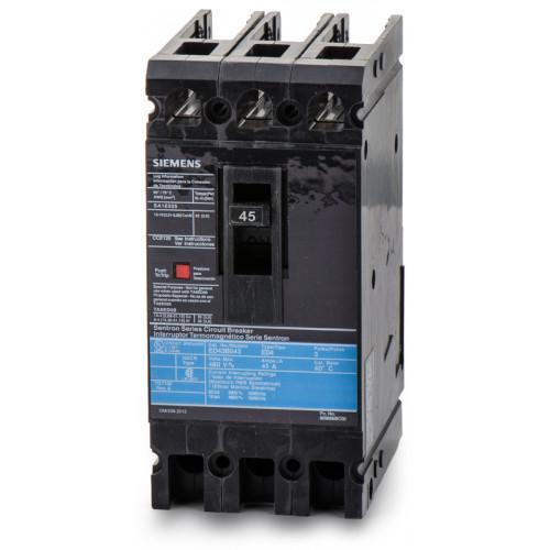 ED43B045 - Siemens 45 Amp 3 Pole 480 Volt Bolt-On Molded Case Circuit Breaker