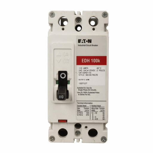 EDH2225L - Eaton Cutler-Hammer 225 Amp 2 Pole 240 Volt Molded Case Circuit Breakers