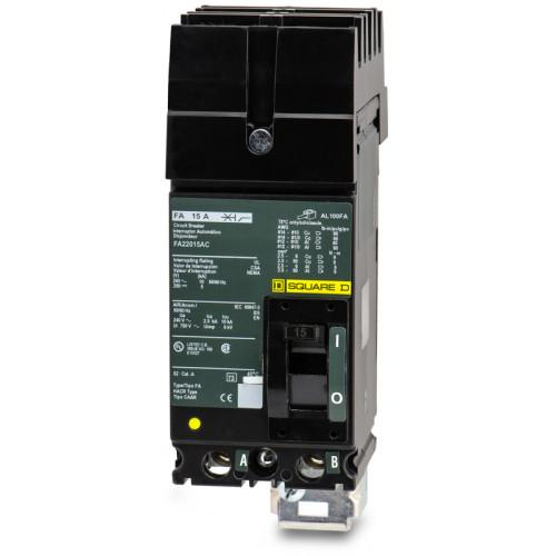 FA22015AC - Square D 15 Amp 2 Pole 240 Volt Molded Case Circuit Breaker