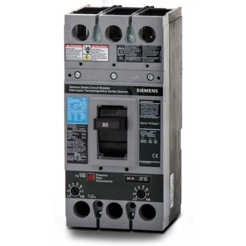 FXD62B080 - Siemens 80 Amp 2 Pole 600 Volt Bolt-On Molded Case Circuit Breaker
