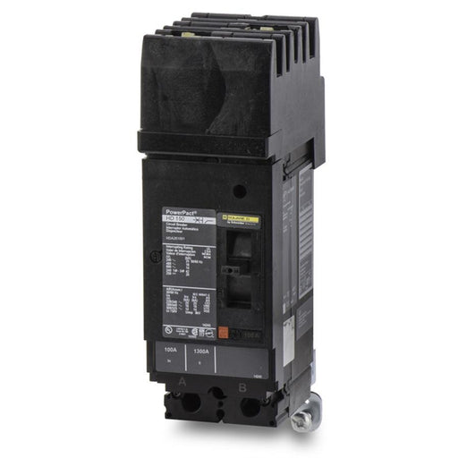 HDA261004 - Square D 100 Amp 2 Pole 600 Volt Plug-In Molded Case Circuit Breaker