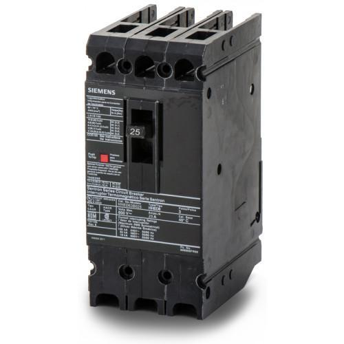HHED63B025 - Siemens 25 Amp 3 Pole 600 Volt Bolt-On Molded Case Circuit Breaker