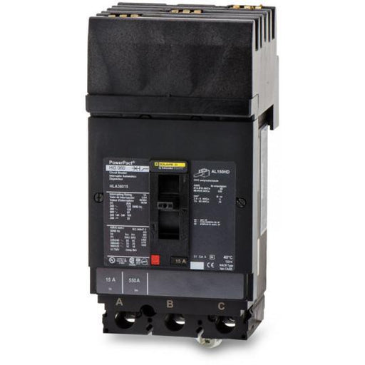 HLA36015 - Square D 15 Amp 3 Pole 600 Volt Plug-In Molded Case Circuit Breaker